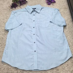 Croft & Barrow Men's Blue Button Down Shirt Size L